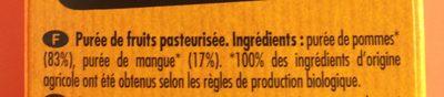 Poki Bio Pomme-Mangue Purée 100% fruits - Ingrediënten - fr