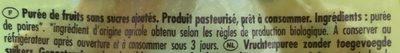 Gourde Poki Poire - Ingrediënten