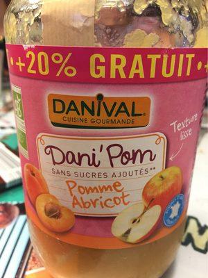 Dani Pom Pommes Abricots 700G +20% Promo - Produit