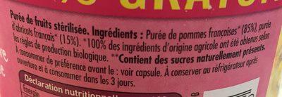Dani Pom Pommes Abricots 700G +20% Promo - Ingrédients