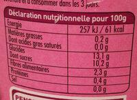 Dani Pom Pommes Abricots 700G +20% Promo - Informations nutritionnelles
