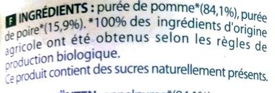 Le grand Dani'Pom pomme - poire - Ingrediënten - fr