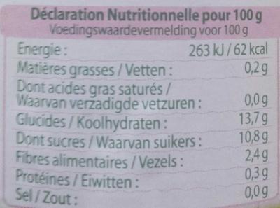 Le grand Dani'Pom pomme - poire - Voedingswaarden