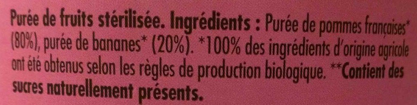 Dani' Pom' Pomme Banane - Ingrediënten - fr