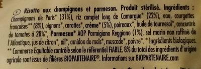 Risotto Champignons & Parmesan - Ingredients - fr