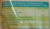 Risotto aux légumes du soleil - Informations nutritionnelles - fr