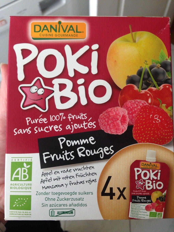 Danival Poki Bio - Purée Pomme & Fruits Rouges 100% Fruit Bio Sans Sucres Ajoutés - Voedigswaarden