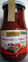 Sauce Bolognaise au Bœuf - Produit - fr