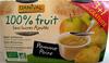 Purée Pomme Poire bio 100% fruit Danival - Produit