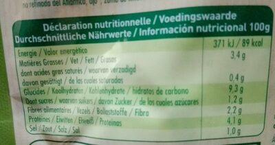 Lentilles petits légumes et lardons - Nutrition facts - fr