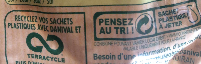 Lentilles petits légumes et lardons - Recycling instructions and/or packaging information - fr