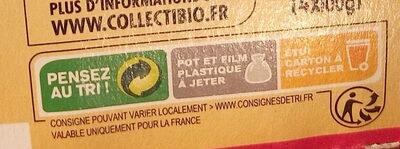 Fruits 100% Fruits Pomme - Instruction de recyclage et/ou information d'emballage