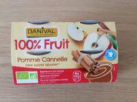Danival - Purée Pomme & Cannelle 100% Fruit Bio Sans Sucres Ajoutés - Ingrediënten