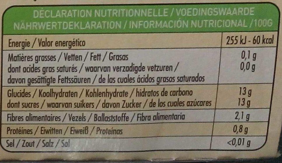 100% Fruit Poire - Informations nutritionnelles - fr