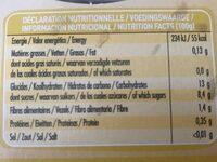 Compote Pomme Mirabelle Ss Sucre Ajouté - Nutrition facts - fr