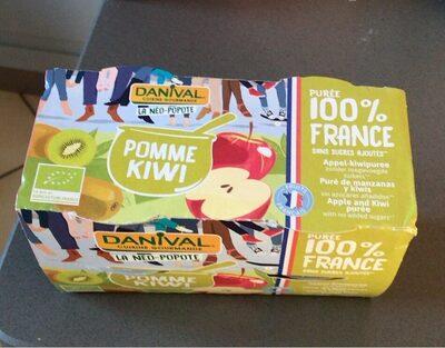Purée 100% France Pomme & Kiwi - Produit - fr