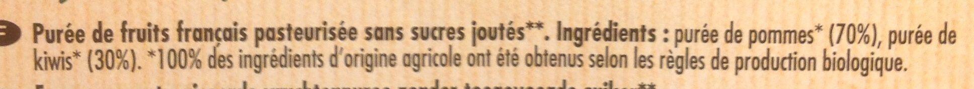 Purée 100% France Pomme & Kiwi - Ingrédients - fr