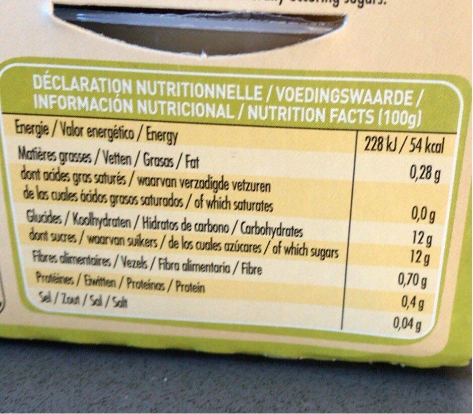 Purée 100% France Pomme & Kiwi - Informations nutritionnelles - fr