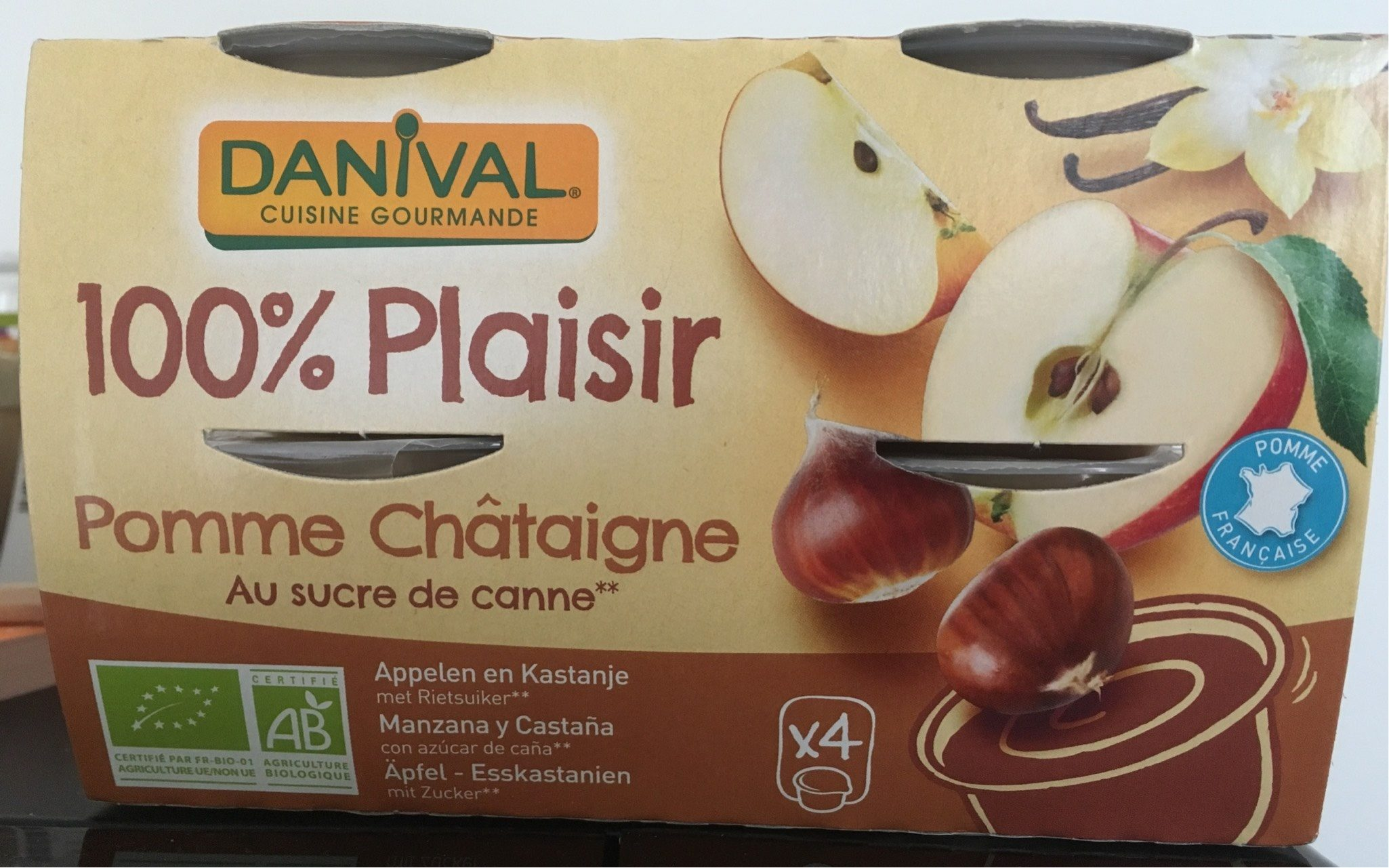 Compote pomme chataigne - Produit