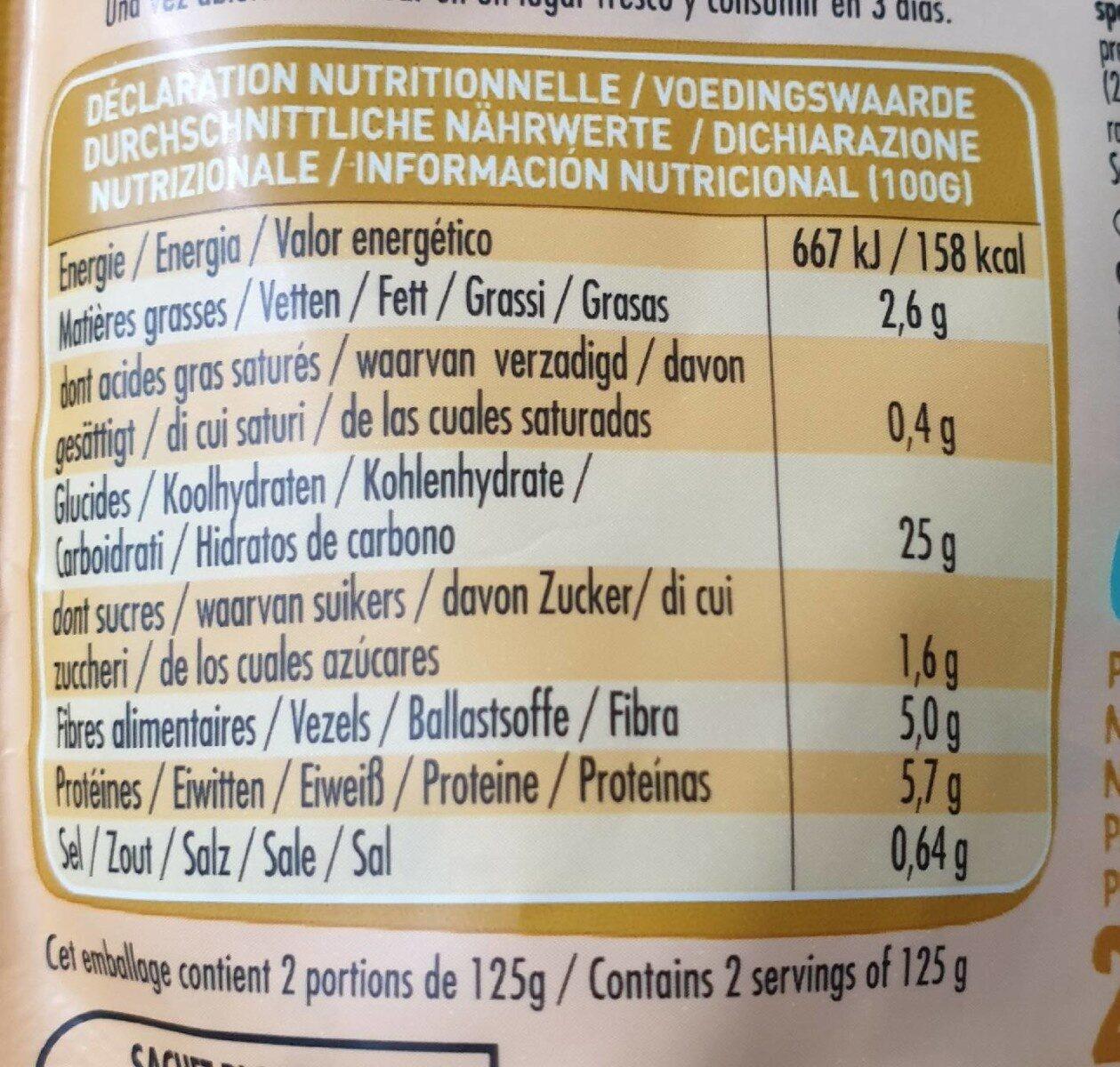 Graines express Trésor du Mexique - Valori nutrizionali - fr