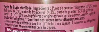 Dani'Pom Pomme - Fruits rouges - Ingredients - fr