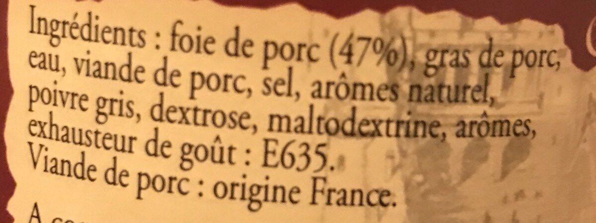 Confit de foie de porc - Ingredients - fr