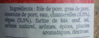 Terrine forestière aux cèpes et chanterelles - Ingredients - fr