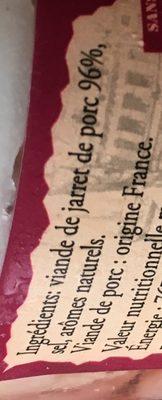 Jambonneau en gelée à l'ancienne - Ingredients - fr