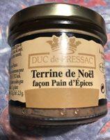 Terrine de Noël Façon Pain d'Épices - Produit - fr