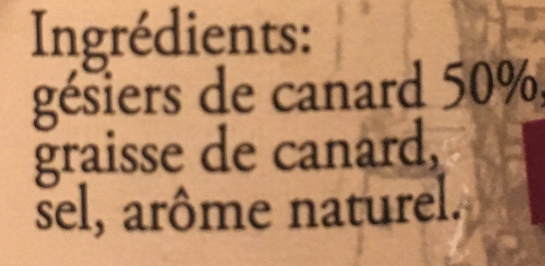 Gesiers de canard confits - Ingredients - fr