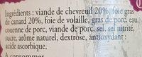Terrine de Chevreuil au Foie Gras - Ingredients - fr