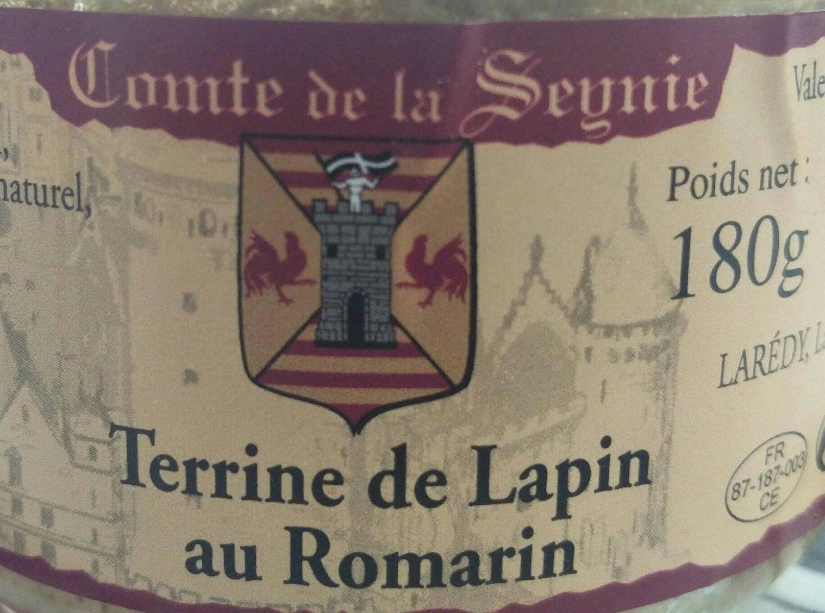 Terrine de lapin au romarin - Product - fr