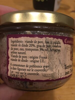 Terrine paysanne aux trompettes - Ingredients - fr
