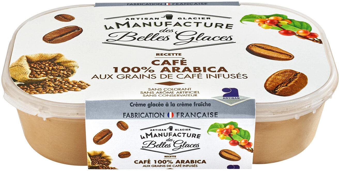 Crème glacée au café pur Arabica avec grains de café infusés - Product - fr