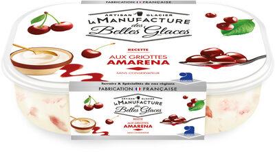 Crème glacée avec morceaux de griotte confite et sauce à la griotte - Product - fr
