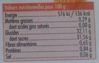 Sorbet plein fruit à la mandarine - Voedingswaarden - fr