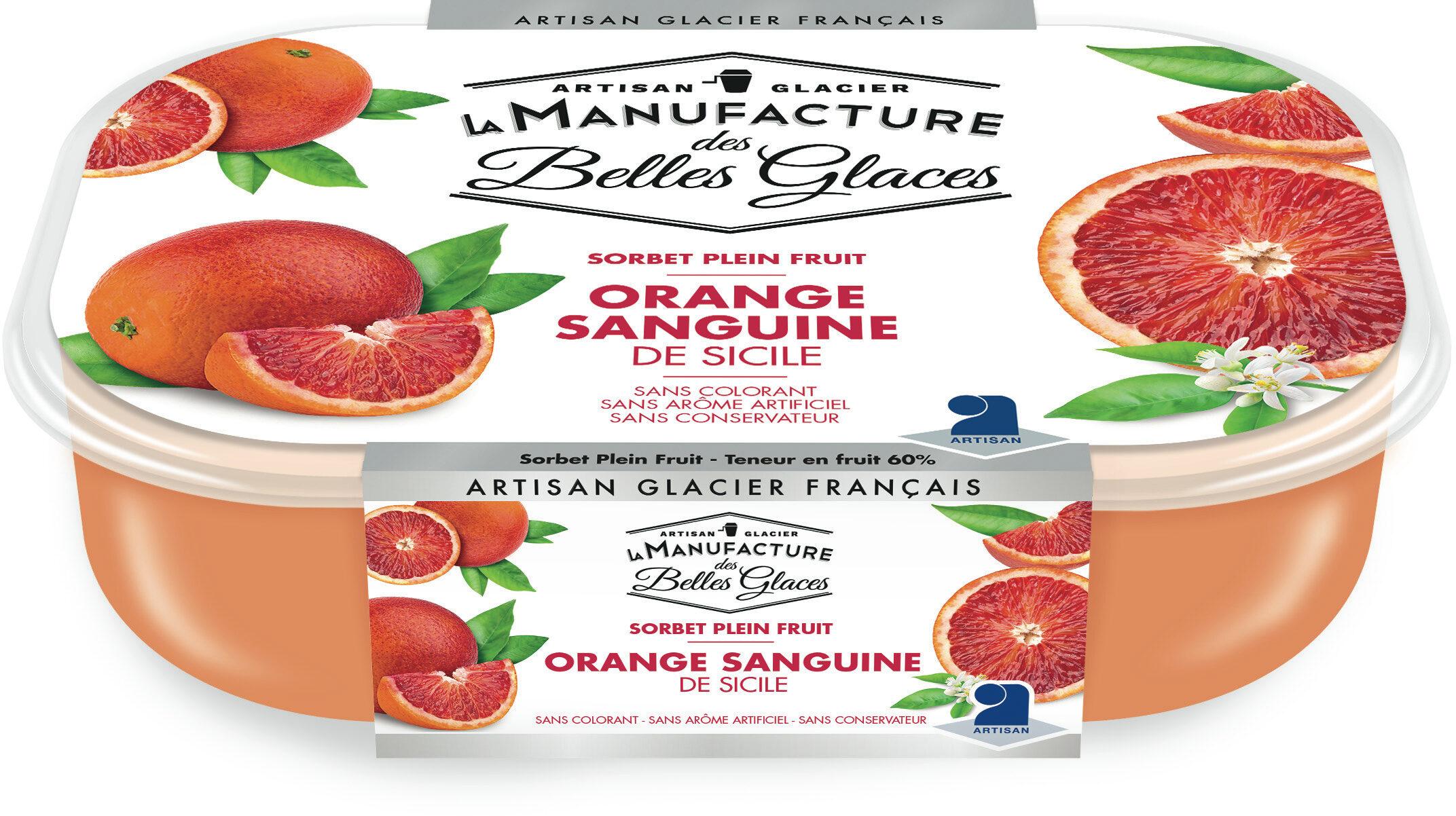 Sorbet plein fruit à l'orange sanguine de Sicile - Product - fr
