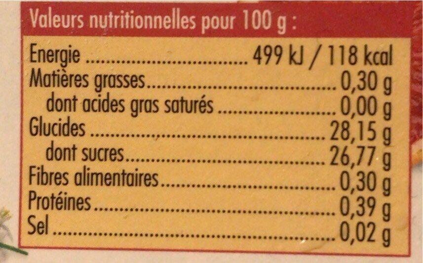Sorbet plein fruit à l'orange sanguine de Sicile - Voedingswaarden - fr