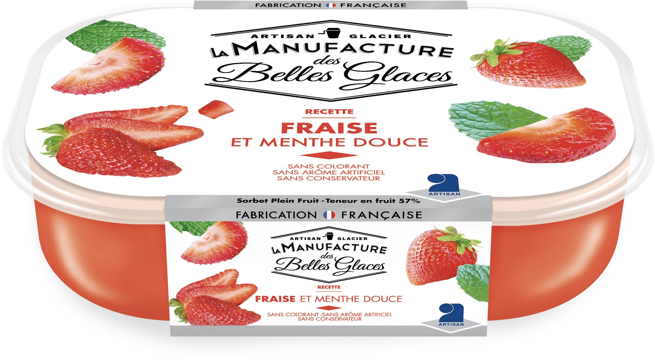 Sorbet plein fruit à la fraise et à la menthe douce - Produit - fr