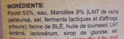 Poulet au Maroilles - Ingrédients