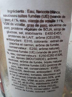 Cassoulet à la chicorée (+ 33 % Gratuit) - Ingrédients