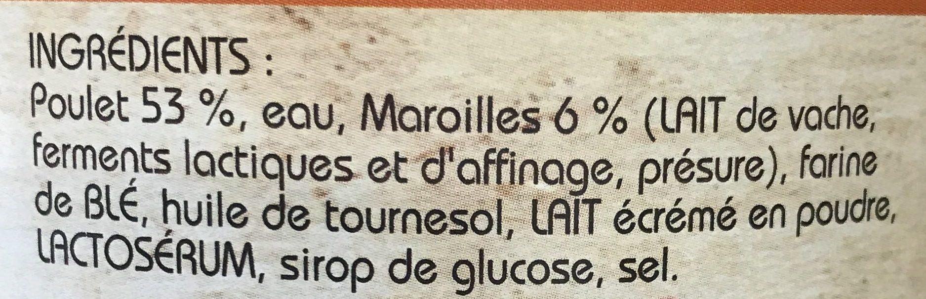 Poulet au Maroilles - Ingrédients - fr