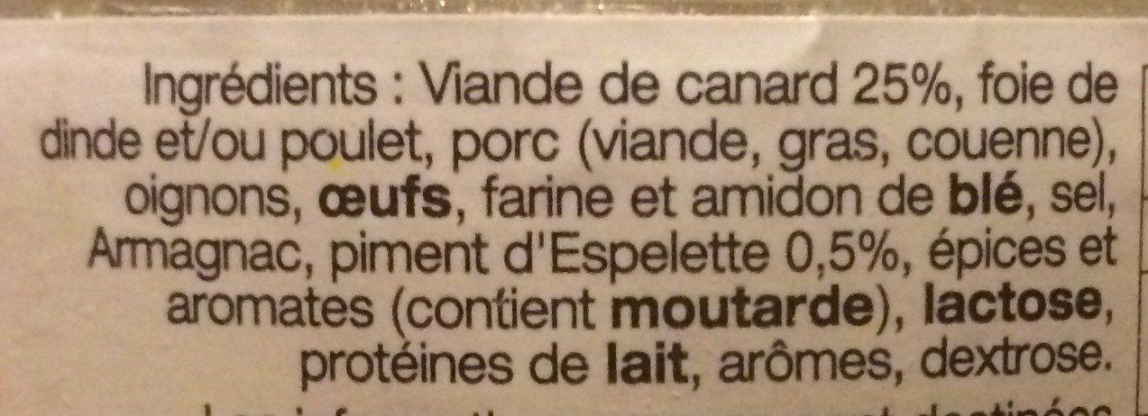 Terrine de Canard au piment d'Espelette - Ingrédients - fr
