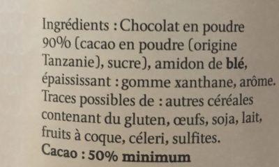 Poudre chocolat chaud - Ingrediënten