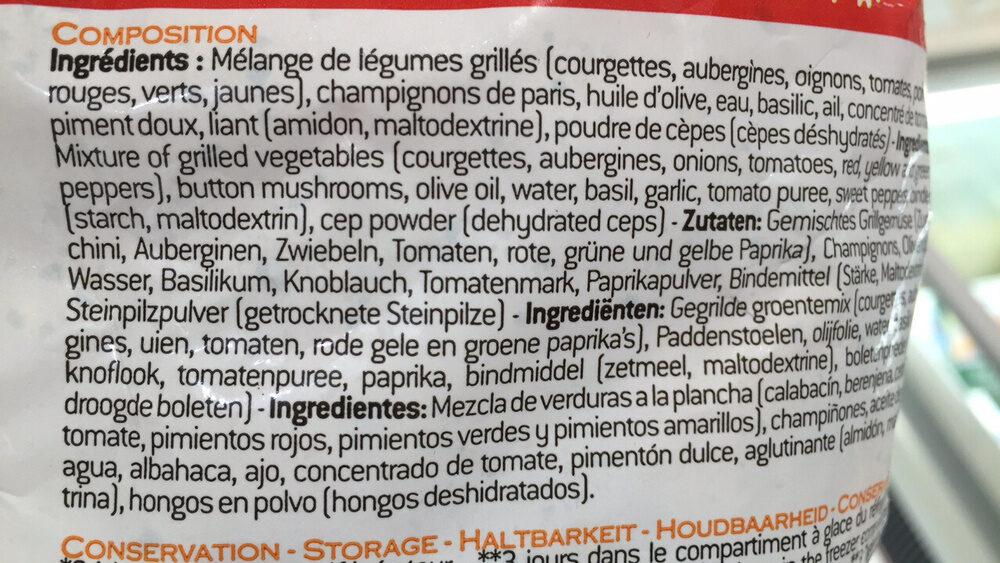 Magda Saveurs D'Italie - Ingredients