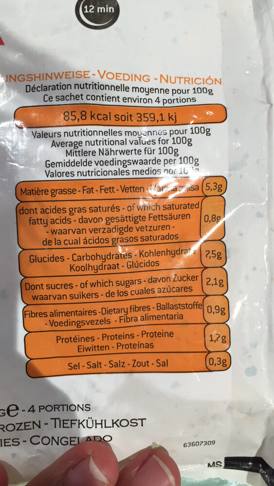 Magda Saveurs D'Italie - Nutrition facts