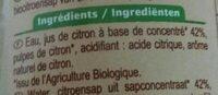 Citron spécialité à diluer - Ingredienti - fr