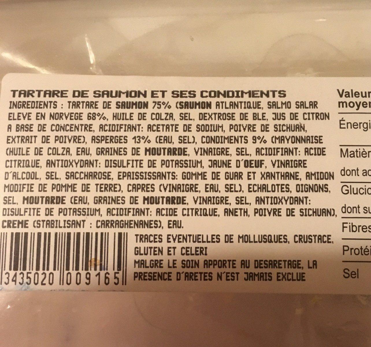 Tartare de saumon - Ingrédients - fr