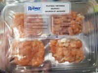 Plateau tartares (saumon / saumon St Jacques) - Produit - fr
