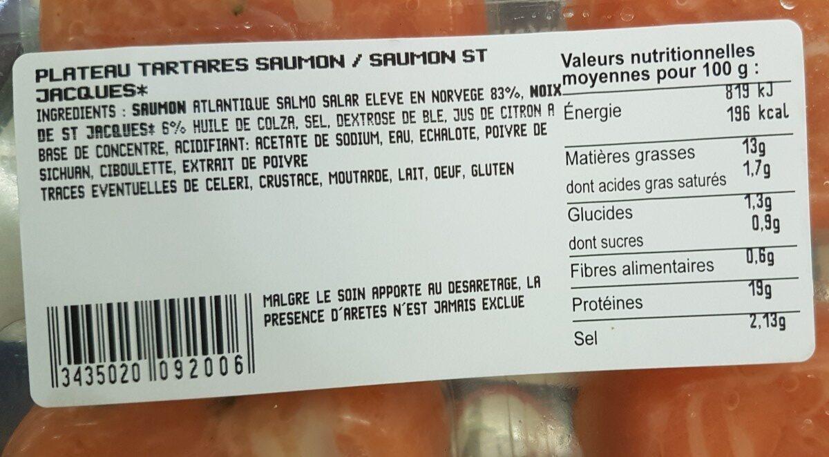 L'instant Saveur, tartare de saumon et légumes croquants - Ingrédients